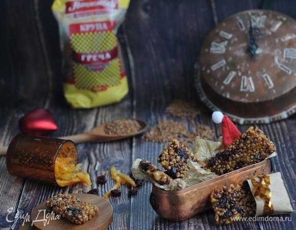 Козинаки из гречки с цукатами