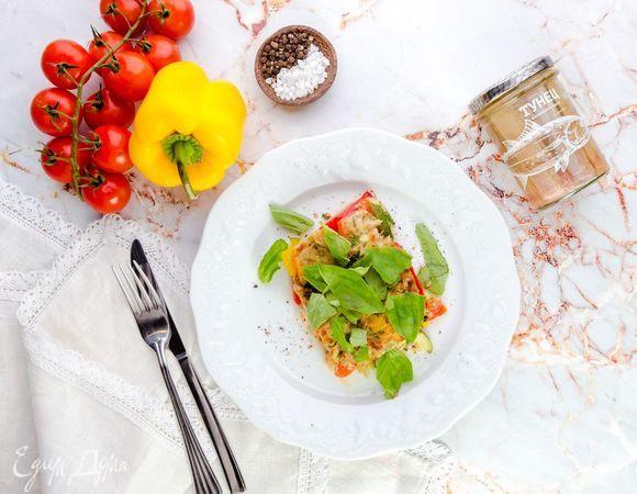 Рататуй с тунцом и болгарским перцем