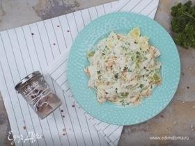 Паста с кальмарами под сливочным соусом
