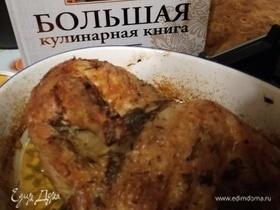 Цыпленок с чесноком, тимьяном и лимоном