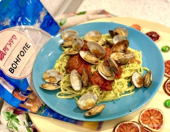 Паста с моллюсками и ароматным базиликом