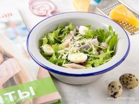 Свежий салат с сельдью