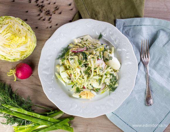 Весенний салат из первых овощей