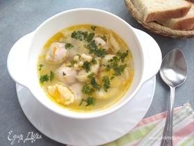 Суп с фрикадельками и клецками