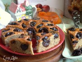 Ореховый пирог с черносливом