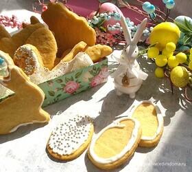 Песочное пасхальное печенье