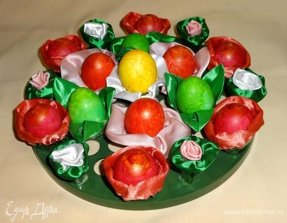 Пасхальные яйца «Праздничный букет»