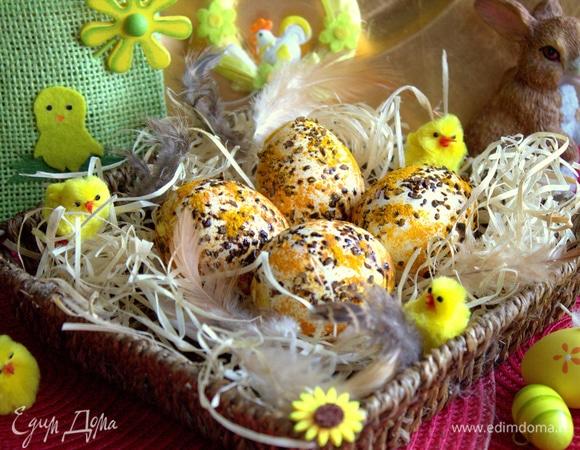 Яйца в кофейную крапинку