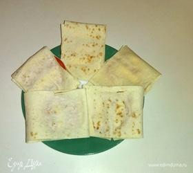 Горячие бутерброды с плавленым сыром в лаваше