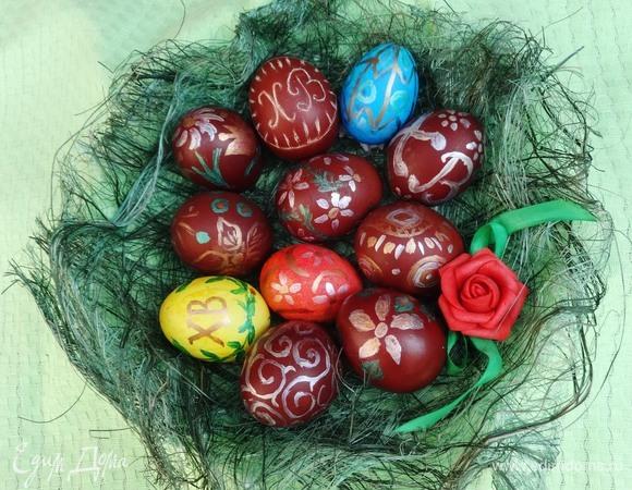 Пасхальные яйца-малеванки