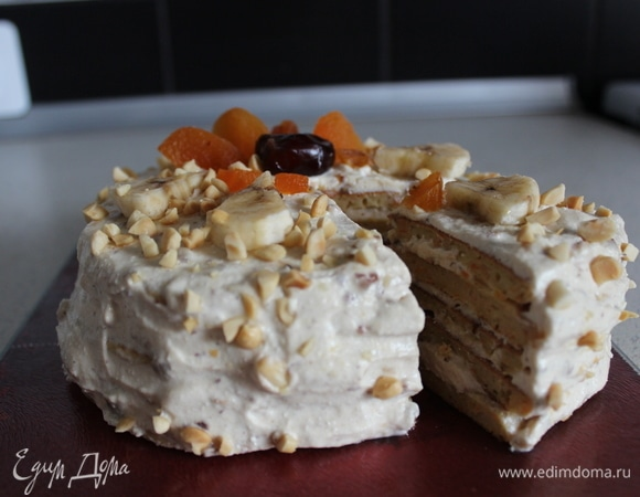 Морковно-творожный диетический торт
