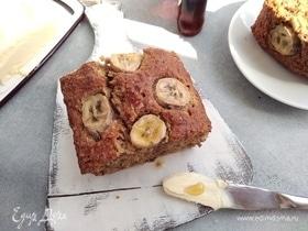 Овсяно-банановый кекс с кленовым сиропом
