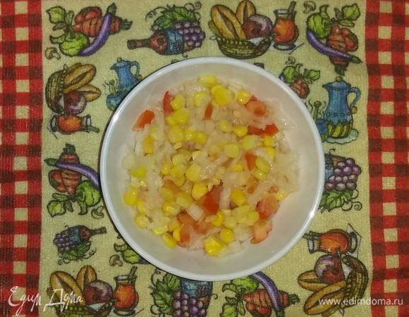 Овощной салат с дайконом