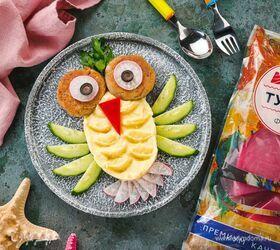 Котлетки из филе тунца с пюре «Попугай Кеша»