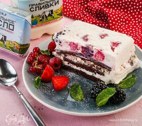 Торт-мороженое с летними ягодами