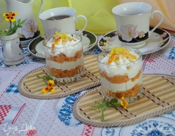 Творожно-морковный десерт на завтрак