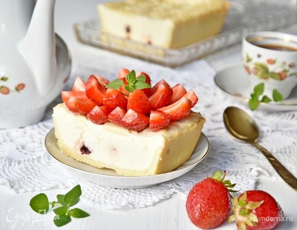 Творожный десерт с вяленой вишней