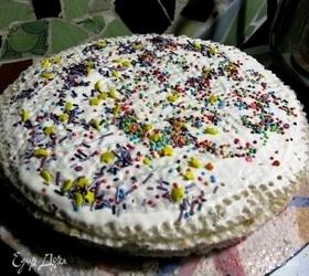 Летний вафельный тортик