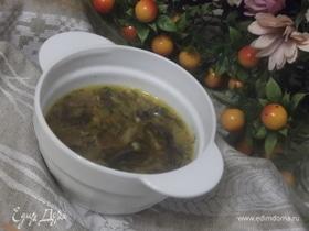 Грибной суп с овощами