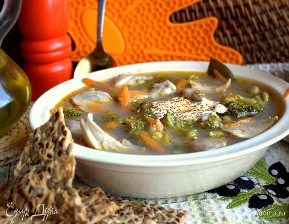 Суп с бобами и брокколи