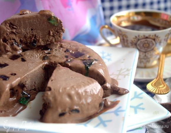 Шоколадное мороженое с мармеладом