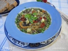 Суп из маша с цветной капустой