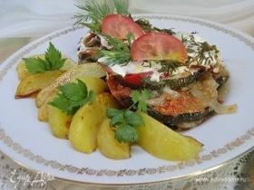 Овощи, тушенные со сметаной