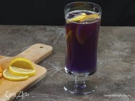Чай «Синие лепестки» с медом и лимоном