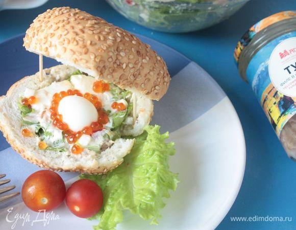 Салат с тунцом в «морской раковине»