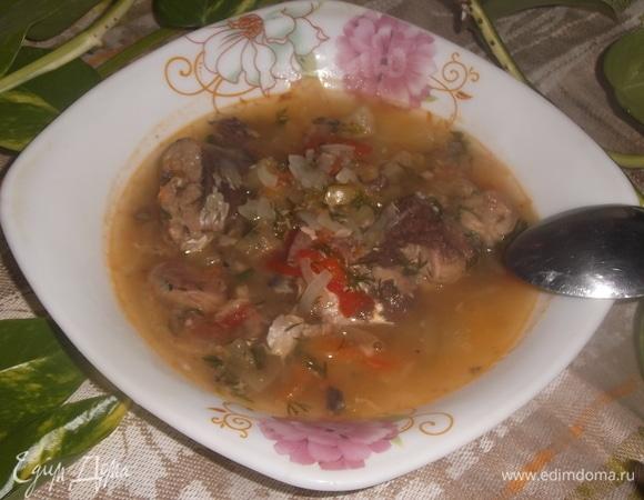 Диетический овощной суп с рыбными консервами