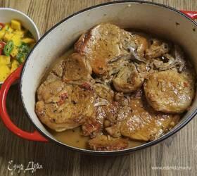 Свинина с соусом из манго, имбиря и чили