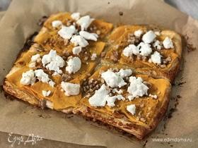 Открытый пирог с тыквой и сыром фета