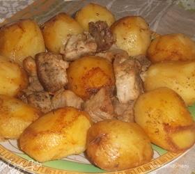 Кебаб с картофелем в казане