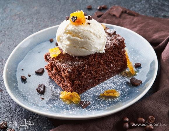 Шоколадно-кофейный пирог