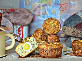 Куриные маффины с яйцом и зеленью