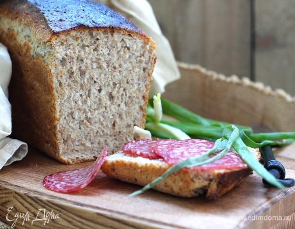 Отрубной пшеничный хлеб на закваске