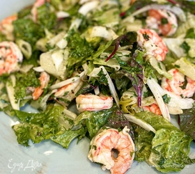 Салат с фенхелем и креветками