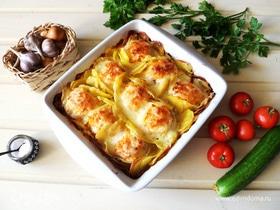 Котлеты с картошкой, запеченные в духовке