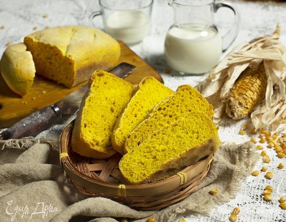 Кукурузный хлеб на дрожжах