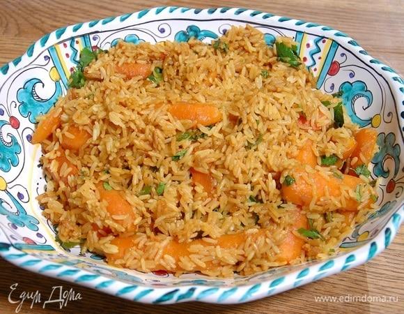 Пикантная морковь с рисом и имбирем