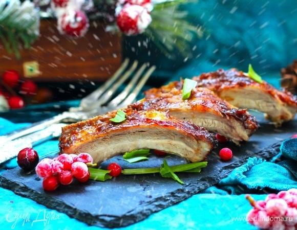 Свиные ребра в ароматном маринаде