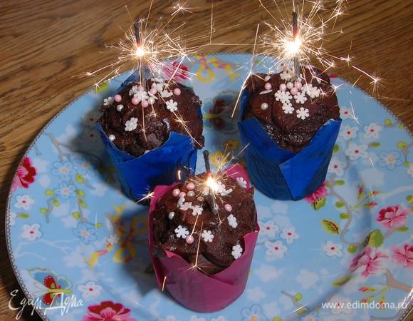 Новогодние шоколадные маффины