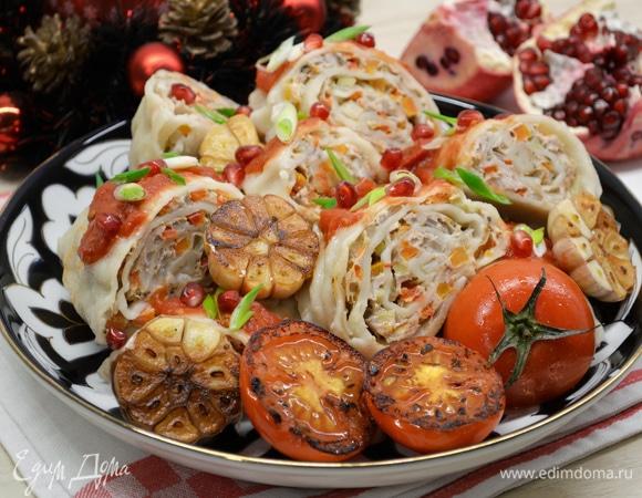 Праздничный ханум с индейкой и овощами