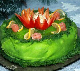 Праздничный закусочный торт