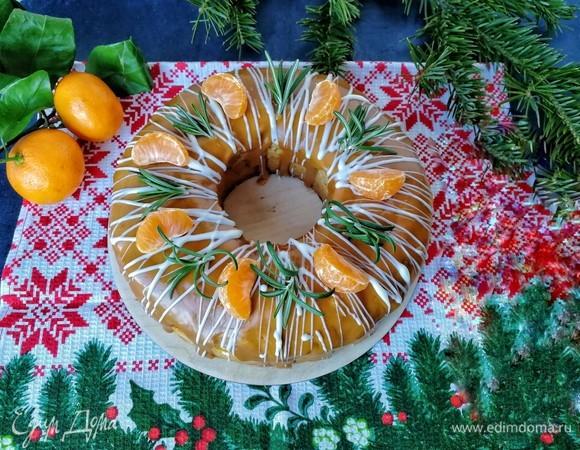Рождественский кекс со сливочно-апельсиновой карамелью