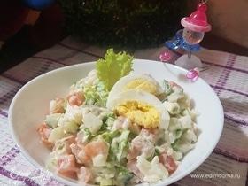 Салат с рисом и сельдереем