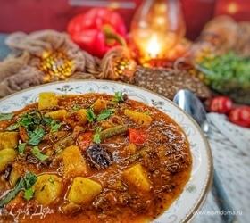Суп с бараниной и черносливом