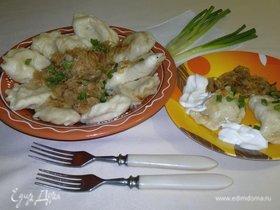 Вареники с картошкой, квашеной капустой и сюрпризами