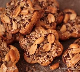 Песочное печенье с семечками и орешками