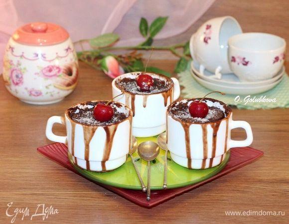 Шоколадные кексы, приготовленные в СВЧ-печи